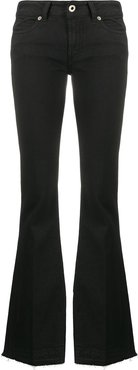 low rise flared jeans - Black