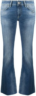 low-rise flared jeans - Blue