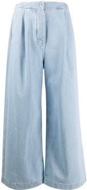 high waisted wide-leg jeans - Blue
