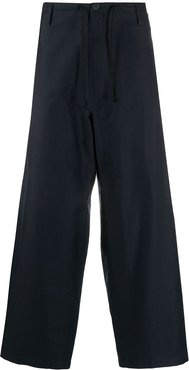 loose fit drawstring waist trousers - Blue
