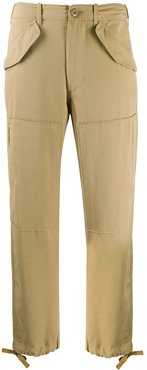 twill cargo trousers - NEUTRALS