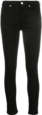 skinny cropped jeans - Black