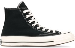 high top lace up sneakers - Black