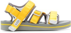 multi-strap sandals - Yellow