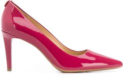 patent pointed high heel pumps - Red
