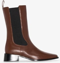 Brown Pros Leather Chelsea Boots