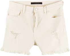 Jules distressed denim shorts - NEUTRALS