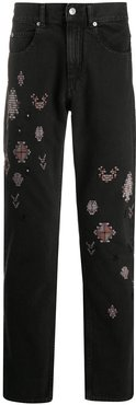 Johna embroidered jeans - Black