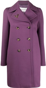 VGOLD double-breasted coat - PURPLE