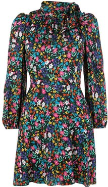 floral ruffled dress - Multicolour