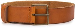 smooth finish belt - Brown