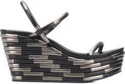 Debs bi-colour wedge sandals - Black
