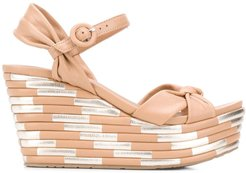 Dolores wedge sandals - Brown