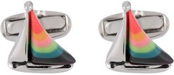 sailboat cufflinks - SILVER