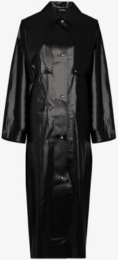 Oil trench coat