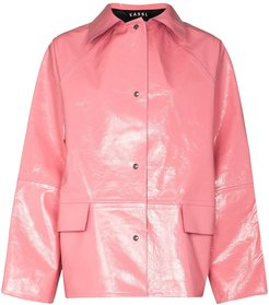 buttoned leather jacket - PINK