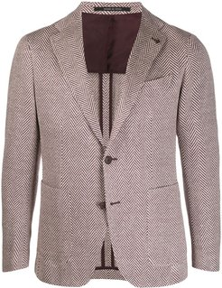 tweed knit suit jacket - NEUTRALS