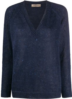 loose knit jumper - Blue