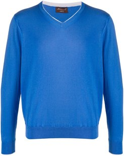 v-neck sweater - Blue