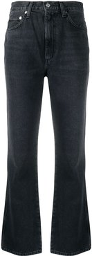 slim-fit flared jeans - Grey