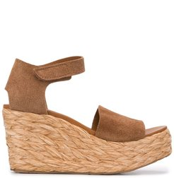 Dory 80mm wedge sandals - Brown