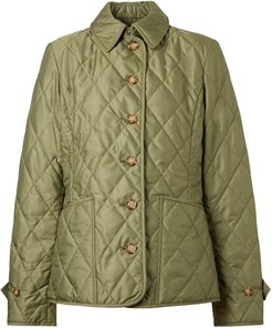 diamond quilted thermoregulated jacket - Green
