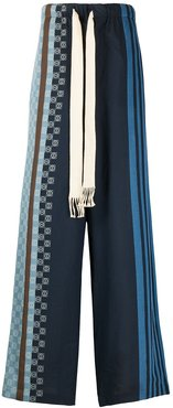 striped anagram trousers - Blue
