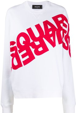 logo-printed sweatshirt - White
