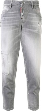 low-rise tapered jeans - Grey