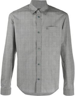 checked fitted shirt - Grey