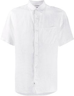 short-sleeve fitted shirt - White