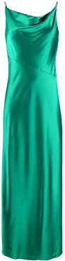 Bonnie satin slip dress - Green
