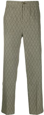 jacquard trousers - Green