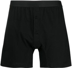 front-button boxer briefs - Black