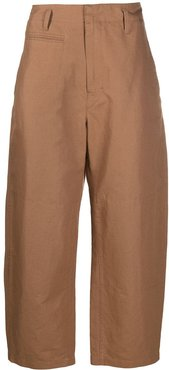 high-waisted trousers - Brown