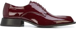 Daab patent Derby shoes - Red