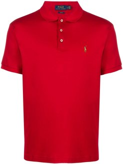 jersey polo shirt - Red