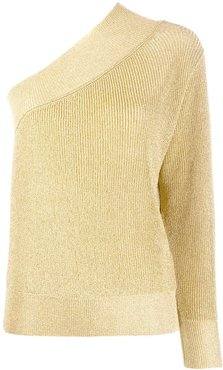 shimmer one shoulder jumper - GOLD