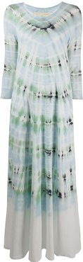 Drama tie-dye maxi dress - Blue