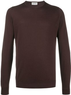 slim-fit sweatshirt - Brown