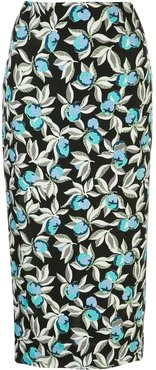 floral print pencil skirt - Black