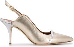 pointed toe heels - SILVER