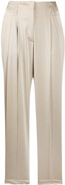 straight relaxed fit trousers - NEUTRALS