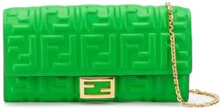Baguette continental chain wallet - Green