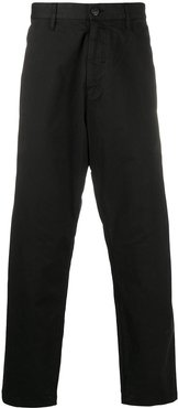 mid-rise straight-leg tailored trousers - Black