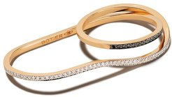 18kt rose gold Bella diamond double ring - 18 CT. ROSE GOLD