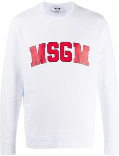 college logo-print sweatshirt - White