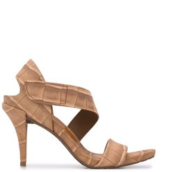 Yamina open toe stiletto sandals - Brown