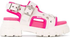 chunky sole sandals - White