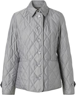 diamond quilted thermoregulated jacket - Grey
